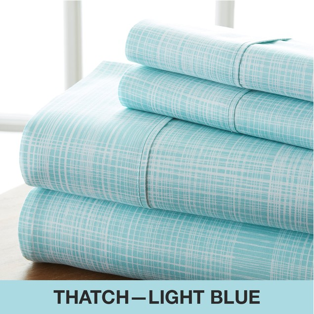 Becky Cameron Premium Ultra Soft Thatch Pattern 4 Piece Bed Sheet Set