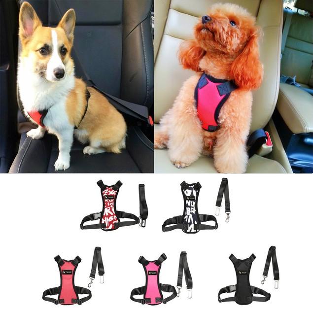 Soft Dog Car Safety Belt w/ Comfortable Strap