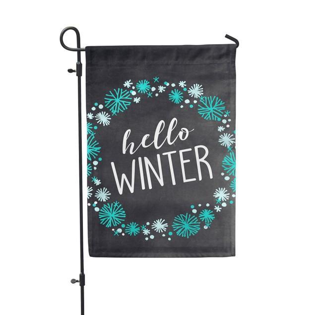 Hello Winter Festive Garden Flag