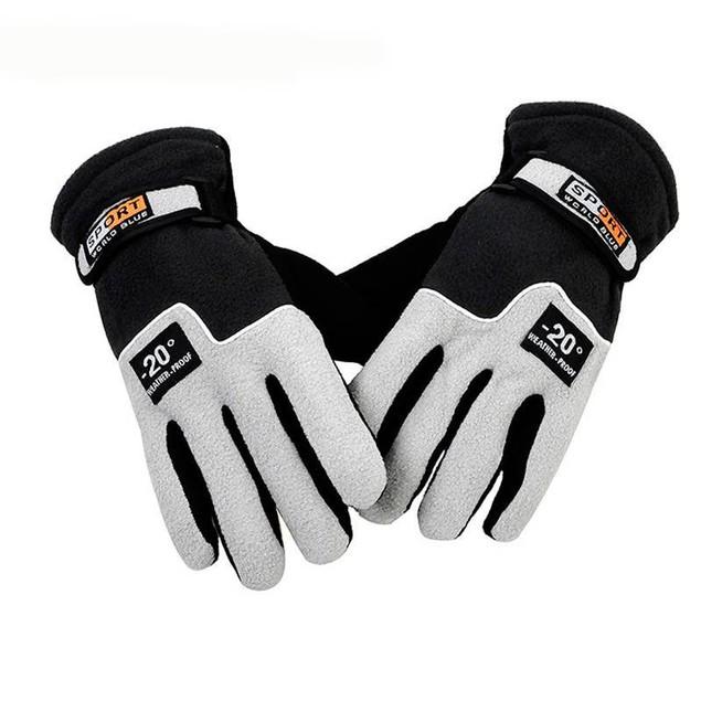 Outdoor Riding Men's Fleece Warm Gloves