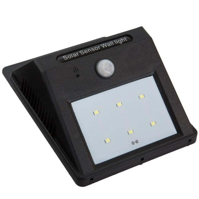 Solar Powered LED Security Light Motion Activated Outdoor Wall Light