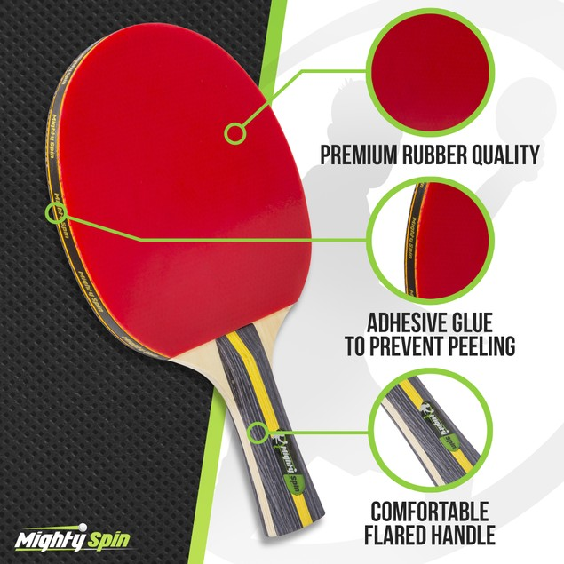 7 Ply Blade Ping Pong Paddle - Beginner to Advanced Table Tennis Racket