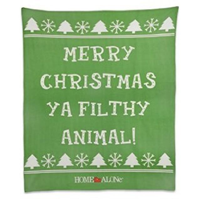 "Merry Christmas Ya Filthy Animal Home Alone Fleece Blanket Movie 50""x 60"""
