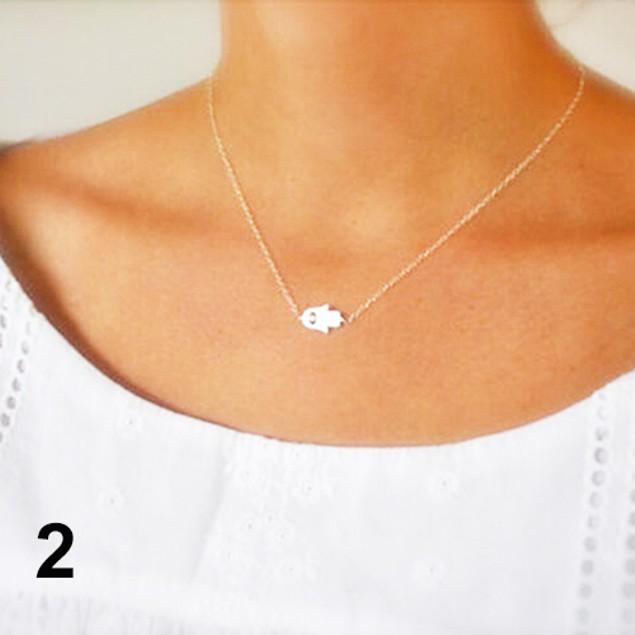 Women Hamsa Fatima God Evil Eye Pendant Necklace