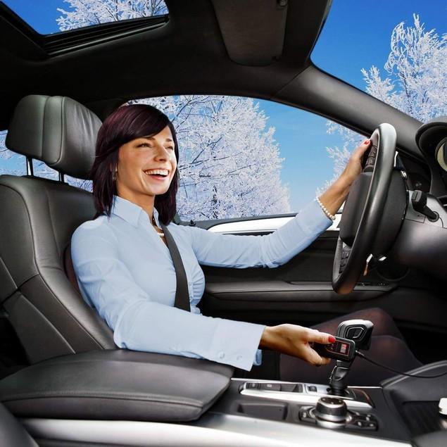 Zone Tech Car Heated Seat Cushion Cover 12v Heater Warmer Pad Timer