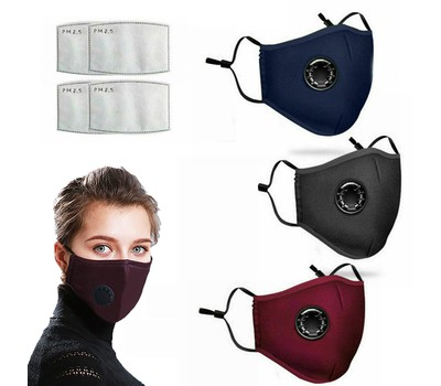 Reusable Cotton Mask Face Cover with 2 Filters Was: $19.99 Now: $8.99.
