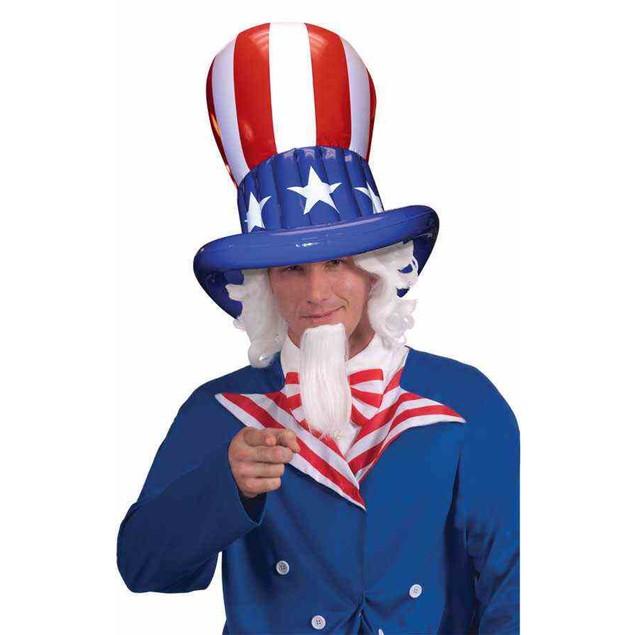 Patriotic Inflatable Top Hat Flag Stars Stripes USA United States America