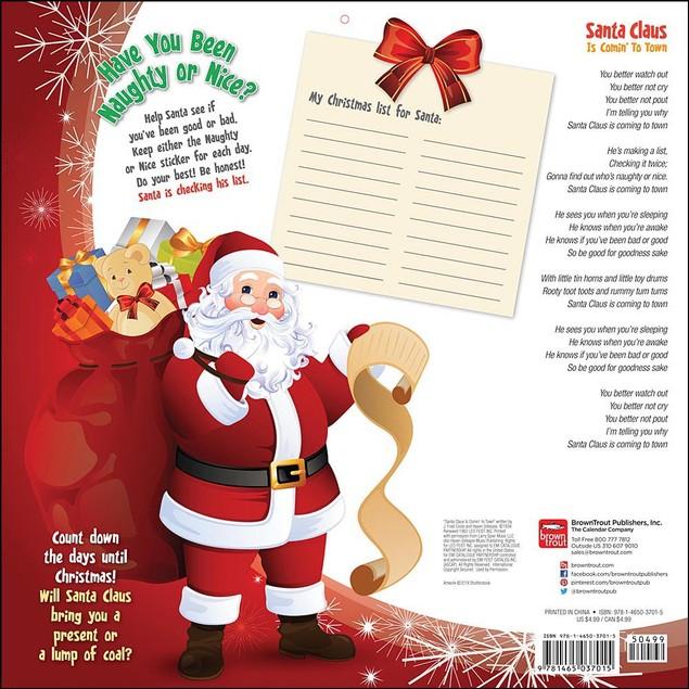 Santa Claus Is Comin To Town Advent Calendar, Advent Calendars by Calendars