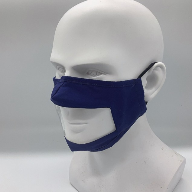 2 Pack Mask With Visible Mouth Piece - 6 Colors