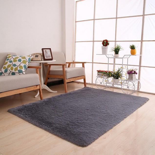 Fluffy Rugs Anti-Skid Shaggy Rug Bedroom Carpet Floor Mat