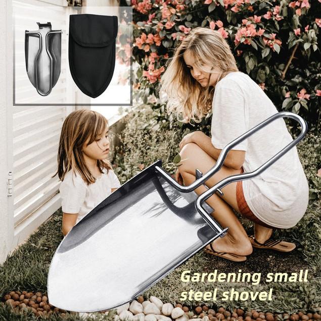Outdoor Stainless Steel Folding Shovel Trowel Spade Gardening Tool