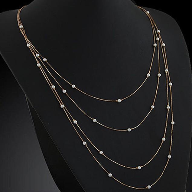 Women's Elegant Multi Layers Beads Necklace