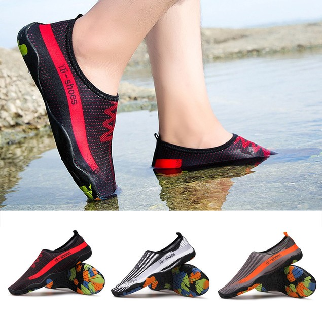 Unisex Men Women Printed Quick-Dry Swim Surf Socks Yoga Skin Sports Shoes
