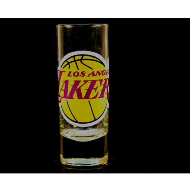 """Los Angeles Lakers NBA """"Hype"""" Tall Shot Glass"""