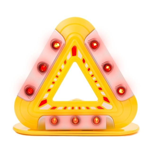Flashing Emergency Triangle LED Lights Warning Triangle With Magnetic Base