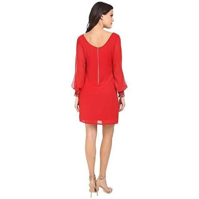 Brigitte Bailey Women's Gem Wrist Dress Red Dress LG