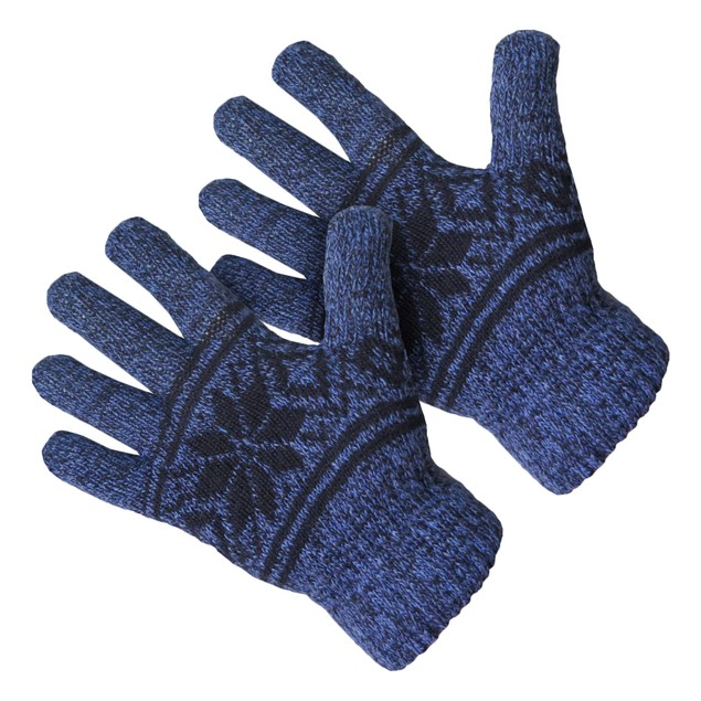 Men's Thermal Insulated Double Layer Knit Lined Gloves- 4 Colors