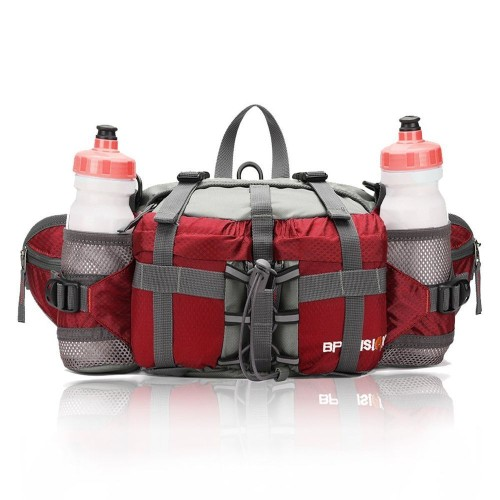 YUOTO Outdoor Fanny Fishing Gear Waist Pack 2 Water Bottle Holder Lumbar Bag