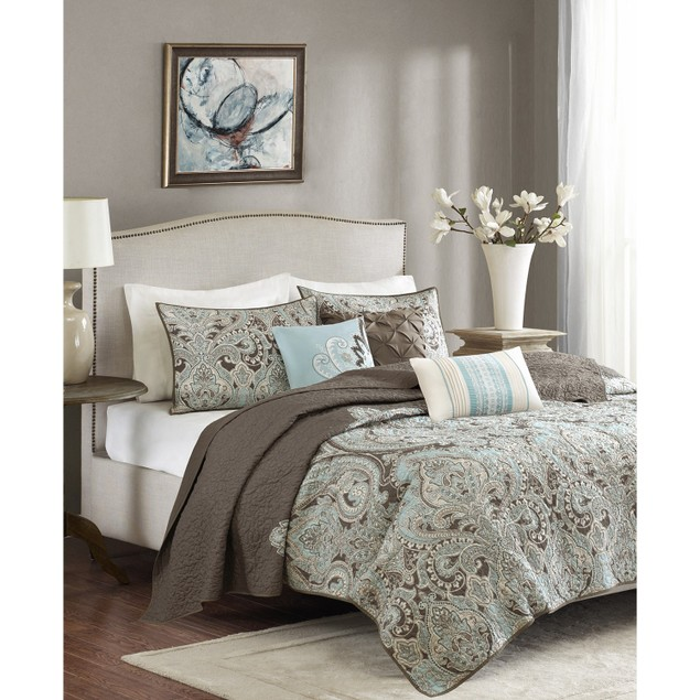 Madison Park Geneva 6 Pc. Quilted Coverlet Set, King or California King,