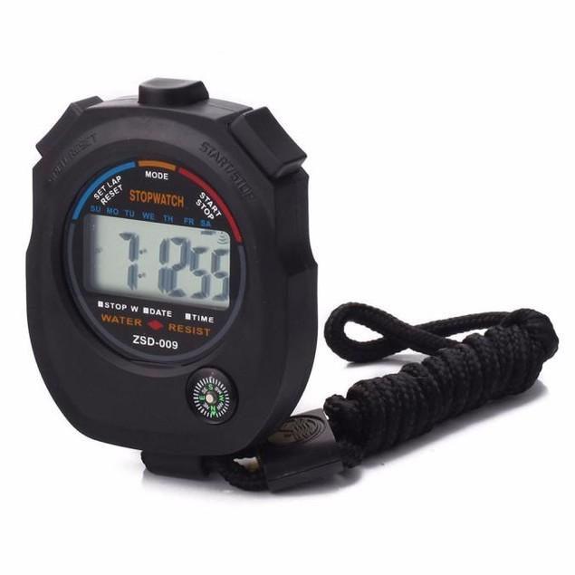Waterproof Digital LCD Stopwatch Chronograph