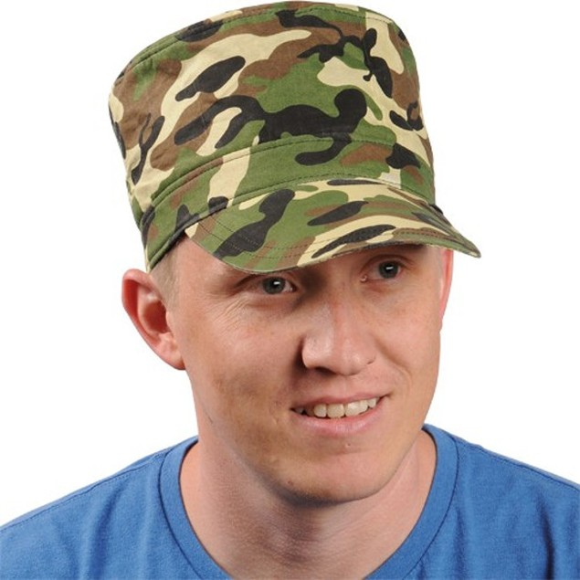 Adult Military Camo Cap Camouflage Hat Army Style Costume Baseball Man