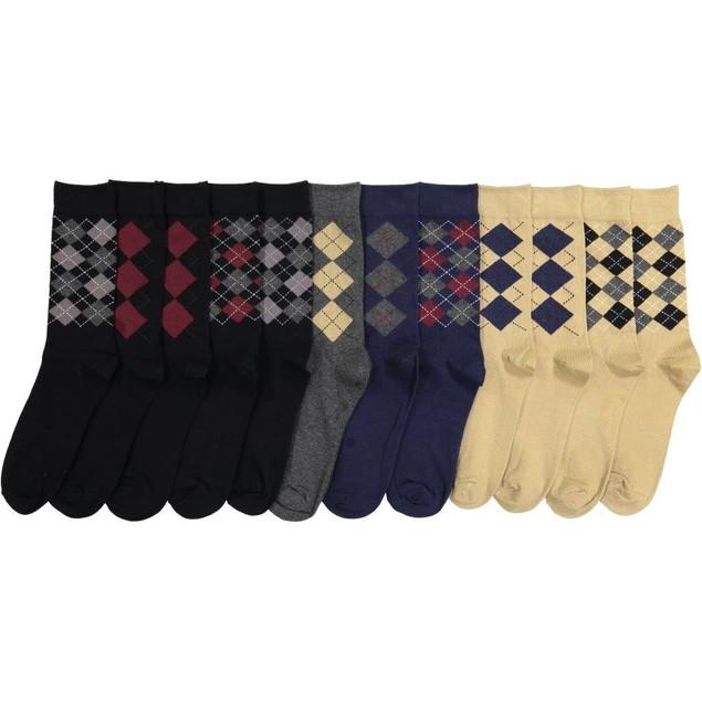 12-Pack Men's Beverly Hills Polo Dress Socks