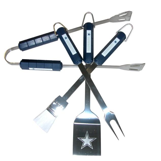 Dallas Cowboys BBQ Set NFL Football Team Logo Spatula Tongs Fork Brush DAL