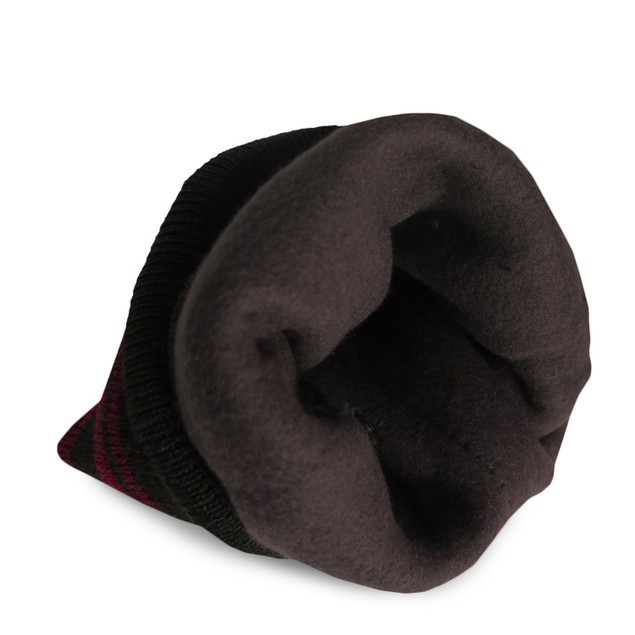 4-Pack Men's Thermal Fleece Lined Baggy Fold Over Black Winter Hat
