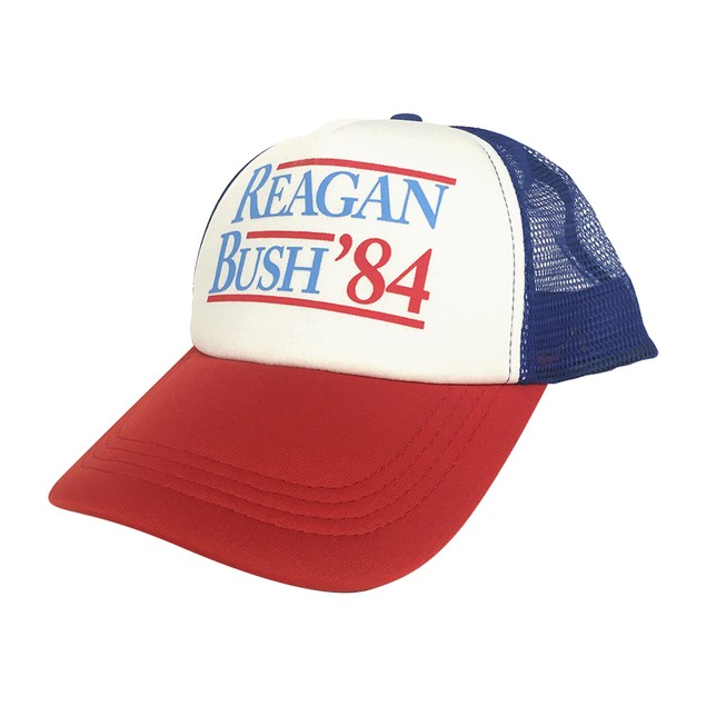 Reagan Bush '84 Red White And Blue Trucker Cap