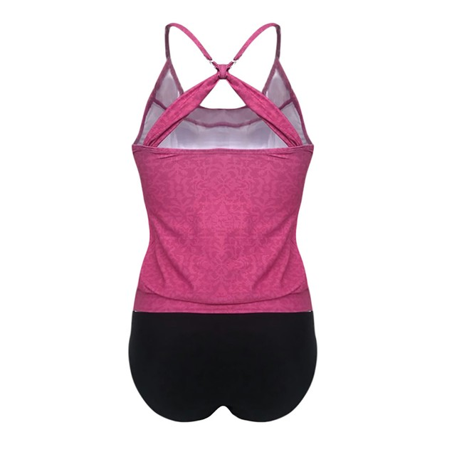 Women Plus Size Printed Tankini Bikini Swimwear Swimsuit Bathing Suit