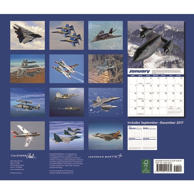 Jets Wall Calendar, Airplanes by Calendar Ink
