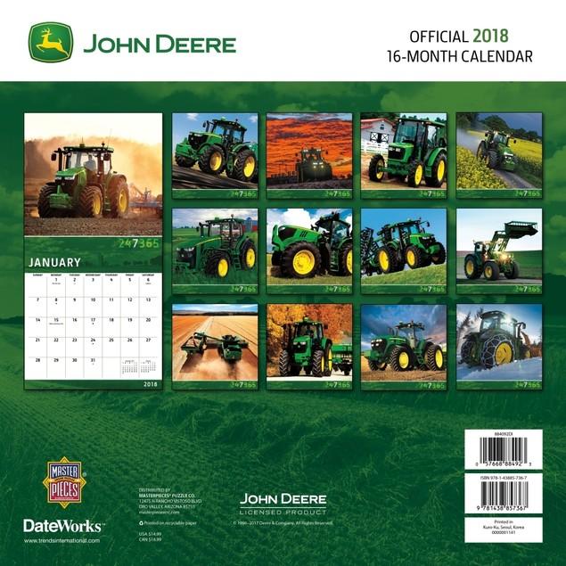 John Deere Wall Calendar, Tractors by Trends International