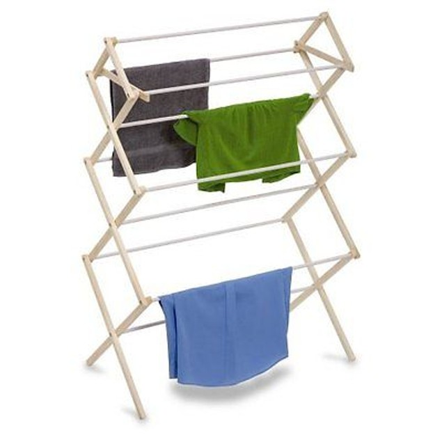 Honey-Can-Do Large Wood Knockdown Drying Rack W