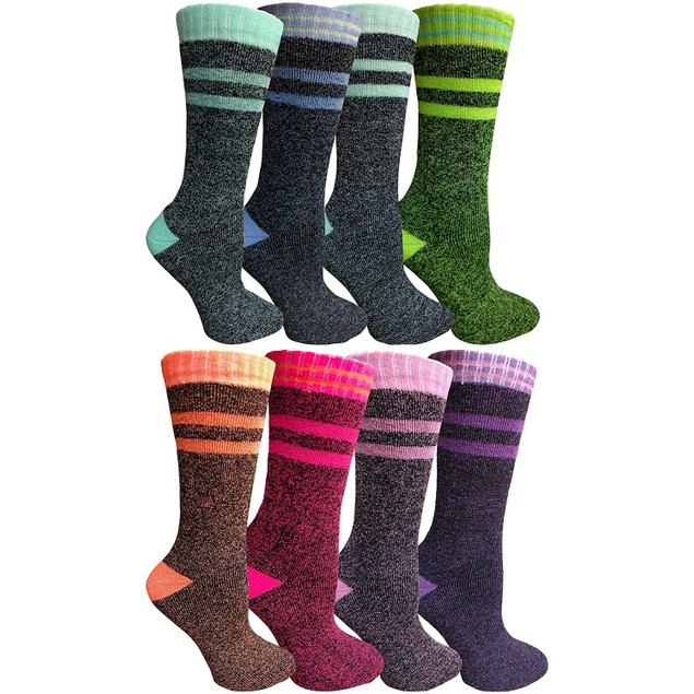 8 Pairs of Women's Thermal Over-the-Calf Socks - 2 Styles