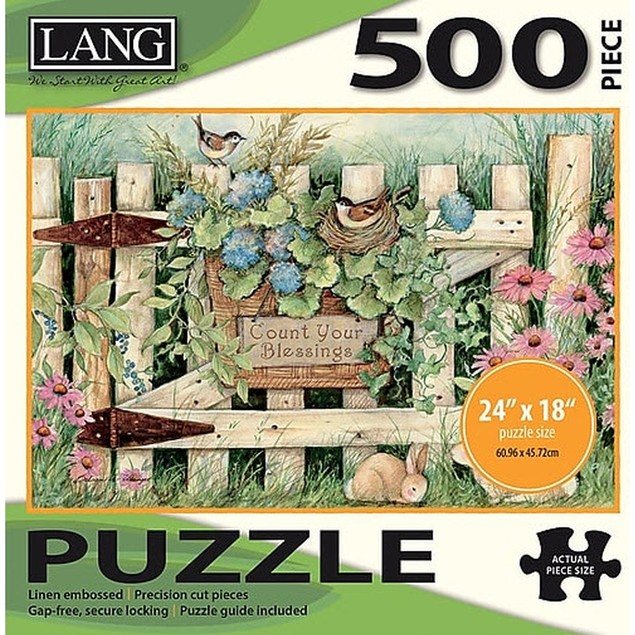 Garden Gate 500 Piece Puzzle, 500 Piece Puzzle by Lang Companies