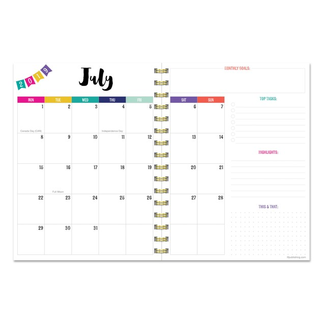 July 2019 - June 2020 Mom's Manager Weekly Monthly Planner