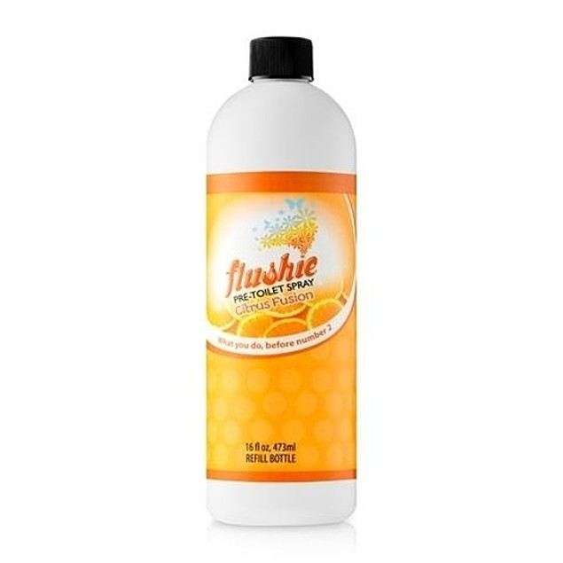 Flushie Pre Toilet Deodorizer Refill Bottle 16 oz