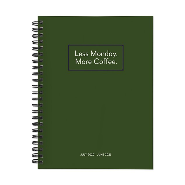 July 2020 - June 2021 Kraft Series Medium Daily Weekly Monthly Planners