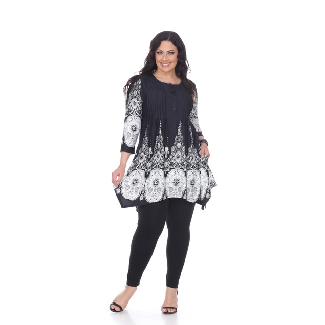 White Mark Universal Plus Size Dulce Tunic Top - 5 Prints