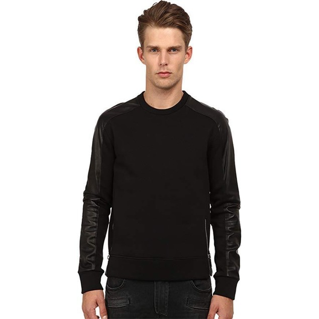 CoSTUME NATIONAL Men's Color Block Shirt with Zippers Nero SM