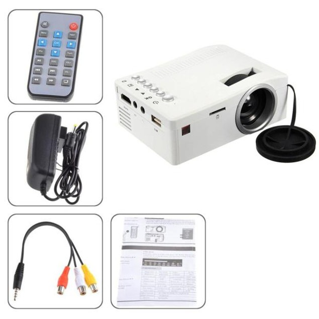 1080P LED Home MulitMedia Cinema USB TV VGA SD HDMI Mini Projector