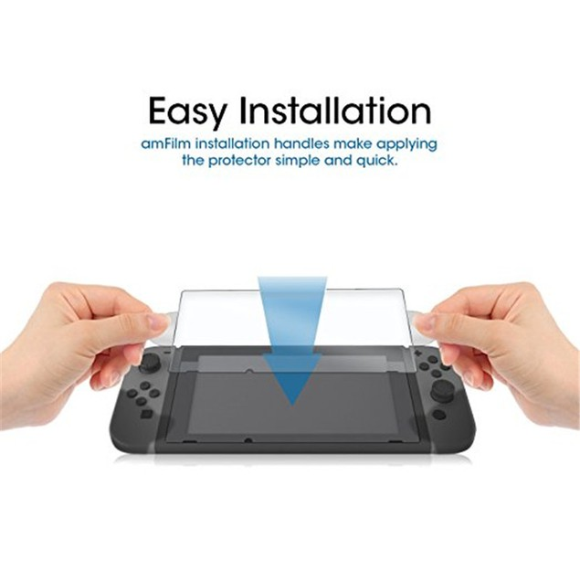 [2pcs/set]Premium Tempered Glass Screen Protector Film for Nintendo Switch