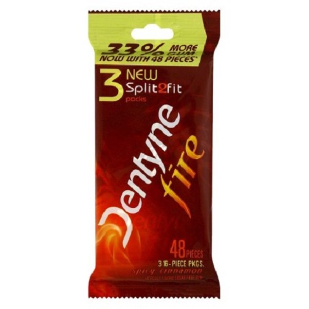 Dentyne Fire Spicy Cinnamon Sugarless Gum 3 Pack