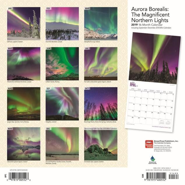 Aurora Borealis Wall Calendar, Astronomy by Calendars