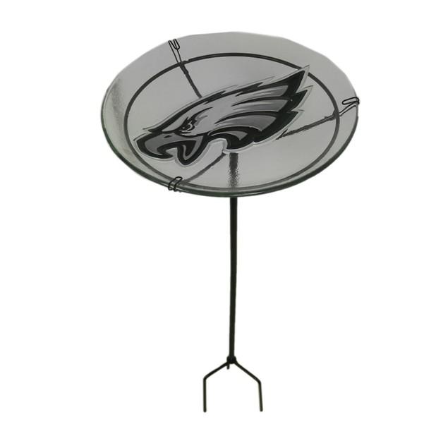 Nfl Philadelphia Eagles Embossed Glass Birdbath Garden Stakes