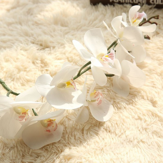 Artificial Silk Fake Flowers Phalaenopsis Wedding Bouquet Party Home Decor