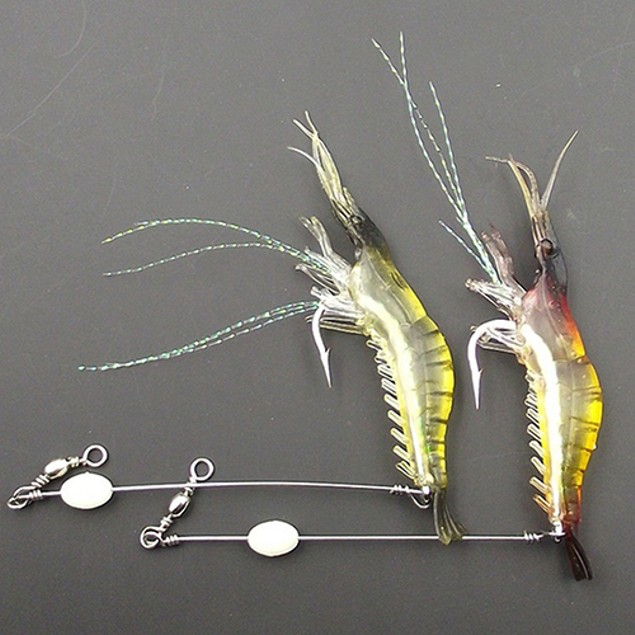 1Pc 75mm Soft Plastic Lifelike Simulation Shrimp Fishing Lure