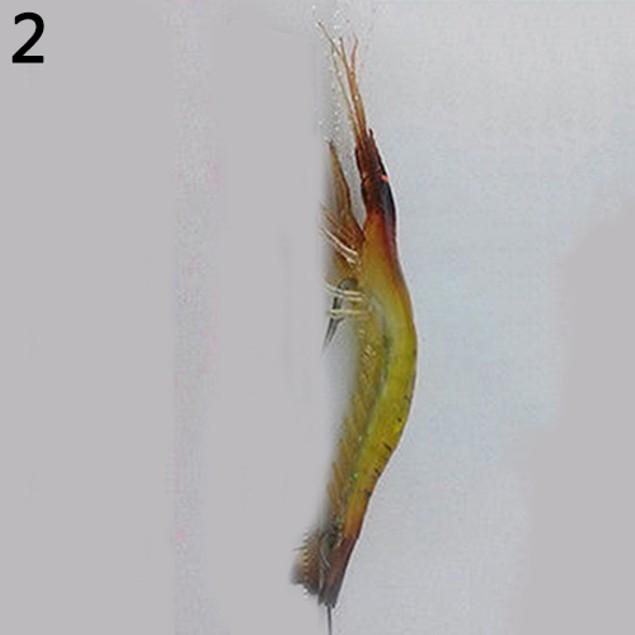 1Pc 75mm Soft Plastic Lifelike Simulation Shrimp Fishing Lure