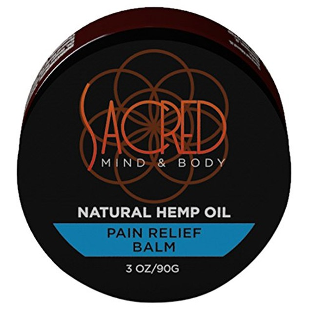 Sacred Mind & Body Natural Hemp Oil Pain Relief Balm 3 Ounce