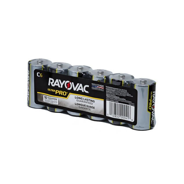 Rayovac Ultra Pro Alkaline C Batteries (6 Batteries)